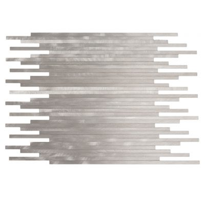 Stav Mosaik Aluminium Silver Borstad 7,5×300 mm