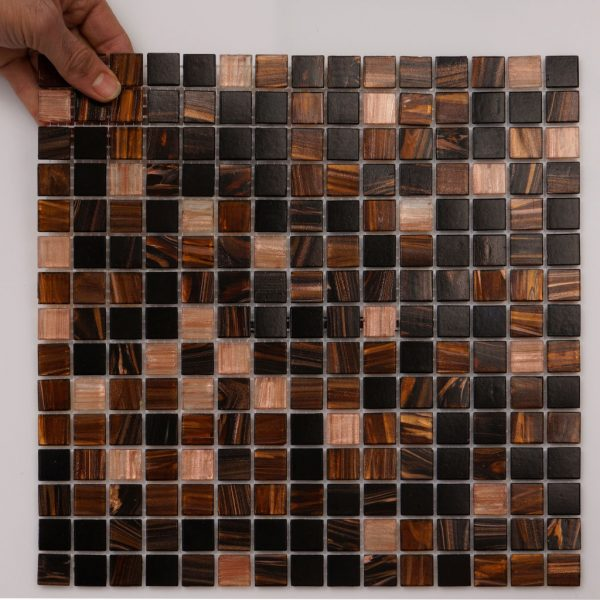 Mosaik Cacao 20x20 mm