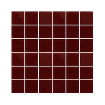 Pure glass Röd 5X5