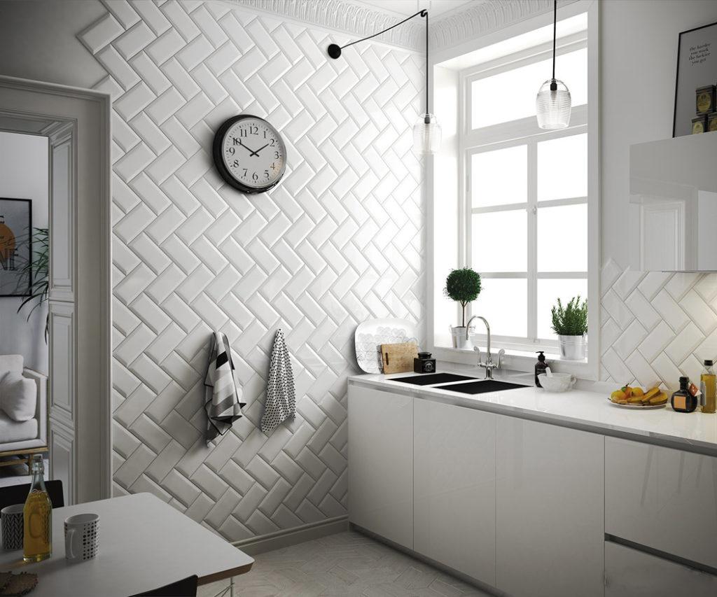 Vægflise metro white 7,5x15   fliser, klinker, mosaik, vægfliser