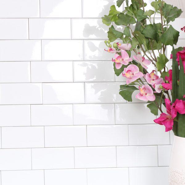 vægflise hvid blank 7,5x15