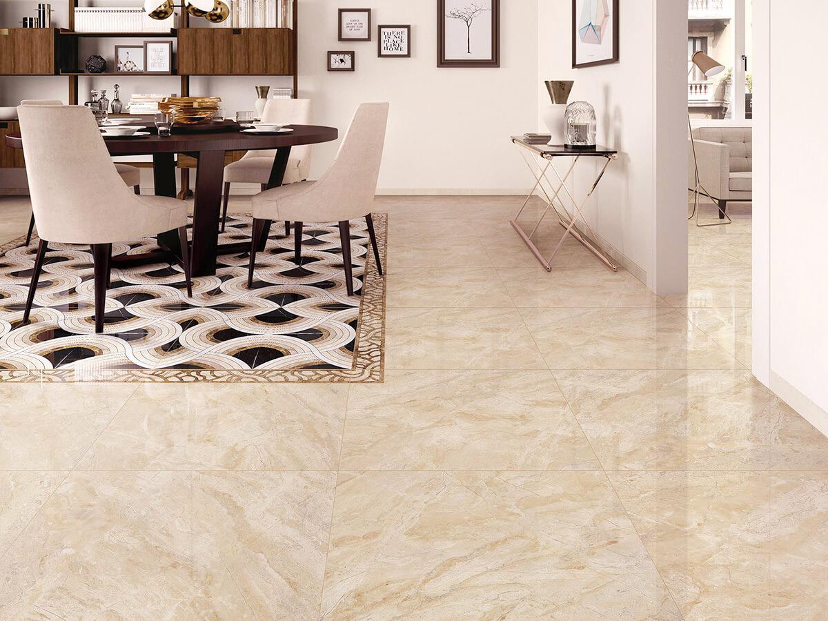 Picture of: Klinker Carrara Beige Blank 60×60 Fliser Klinker Mosaik Vaegfliser