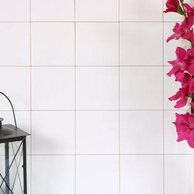 vægflise hvid blank 15x15