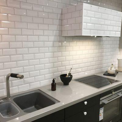 vægflise metro hvid blank 7,5x15