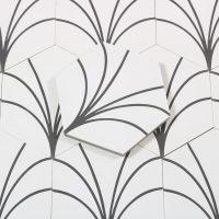 Marokkansk Flise Heksagon Zagora White 20X23,2
