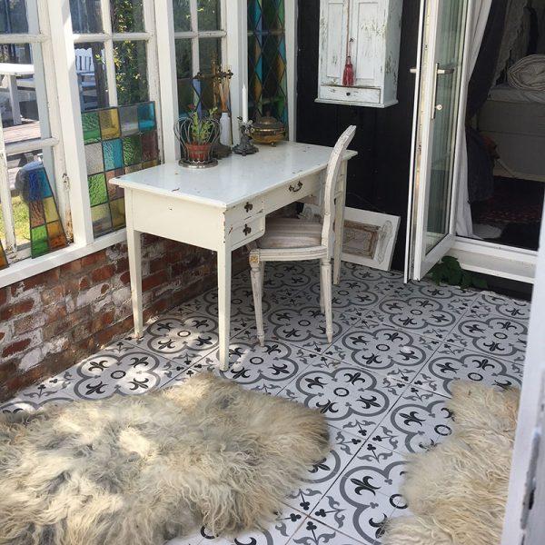 klinker patchwork grey 45x45