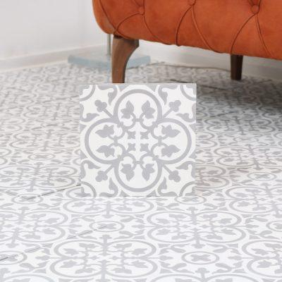 marokkansk flise Nkob grey 20x20