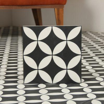 marokkansk flise tea black 20x20