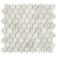 Hexagon Carrara White 3X3