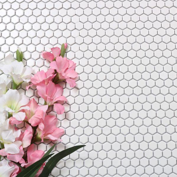 mosaik hexagon white 26X30