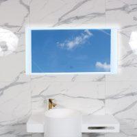 Vægspejl Aflang Led 60X120